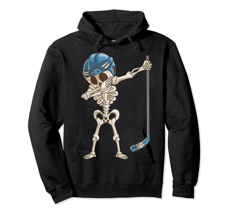 Dabbing Skeleton Hockey Halloween Gift Shirts Unisex Pullover Hoodie