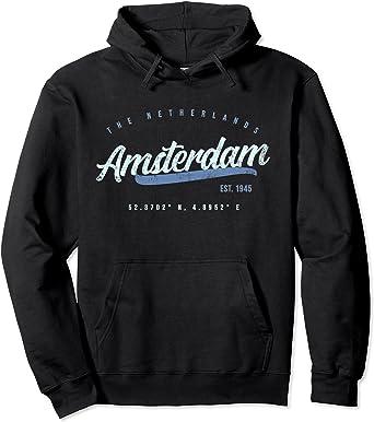 NEW COTTON WHITE HOODIE AMSTERDAM NETHERLANDS