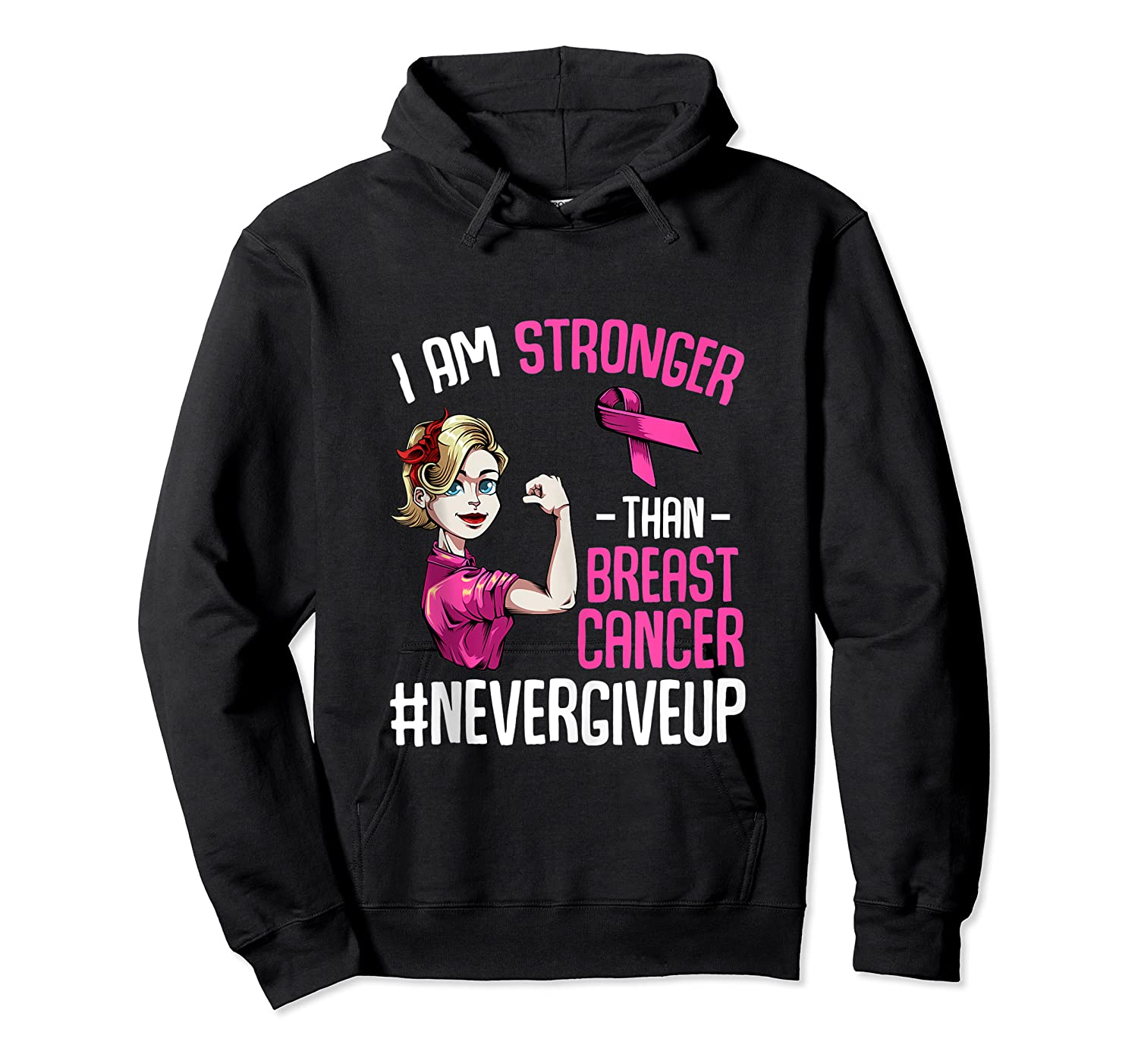 Breast Cancer Awareness Month Shirt For I Am Stronger Tank Top Unisex Pullover Hoodie