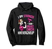 Breast Cancer Awareness Month Shirt For I Am Stronger Tank Top Hoodie Black
