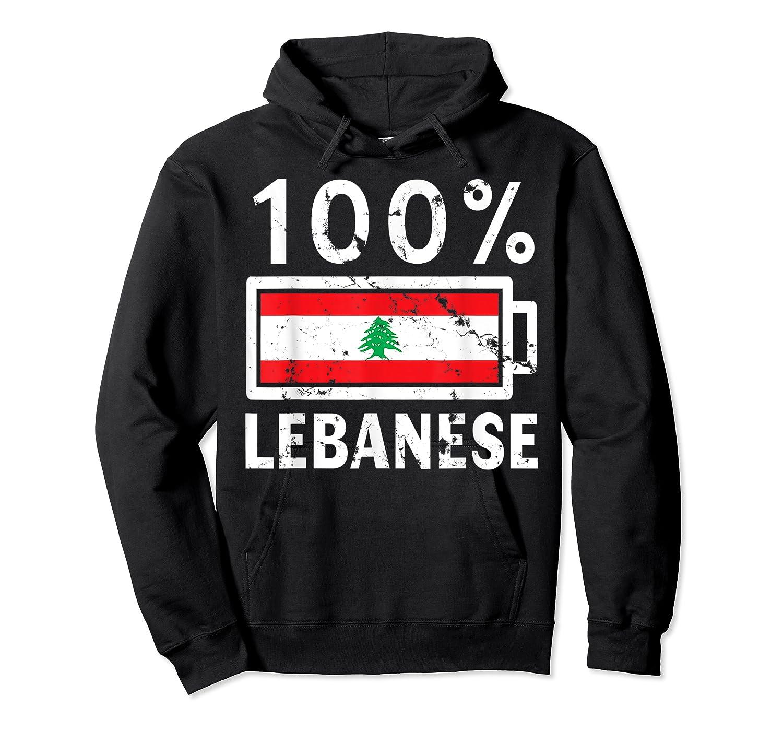 Lebanon Flag T Shirt 100 Lebanese Battery Power Tee Unisex Pullover Hoodie
