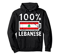 Lebanon Flag T Shirt 100 Lebanese Battery Power Tee Hoodie Black