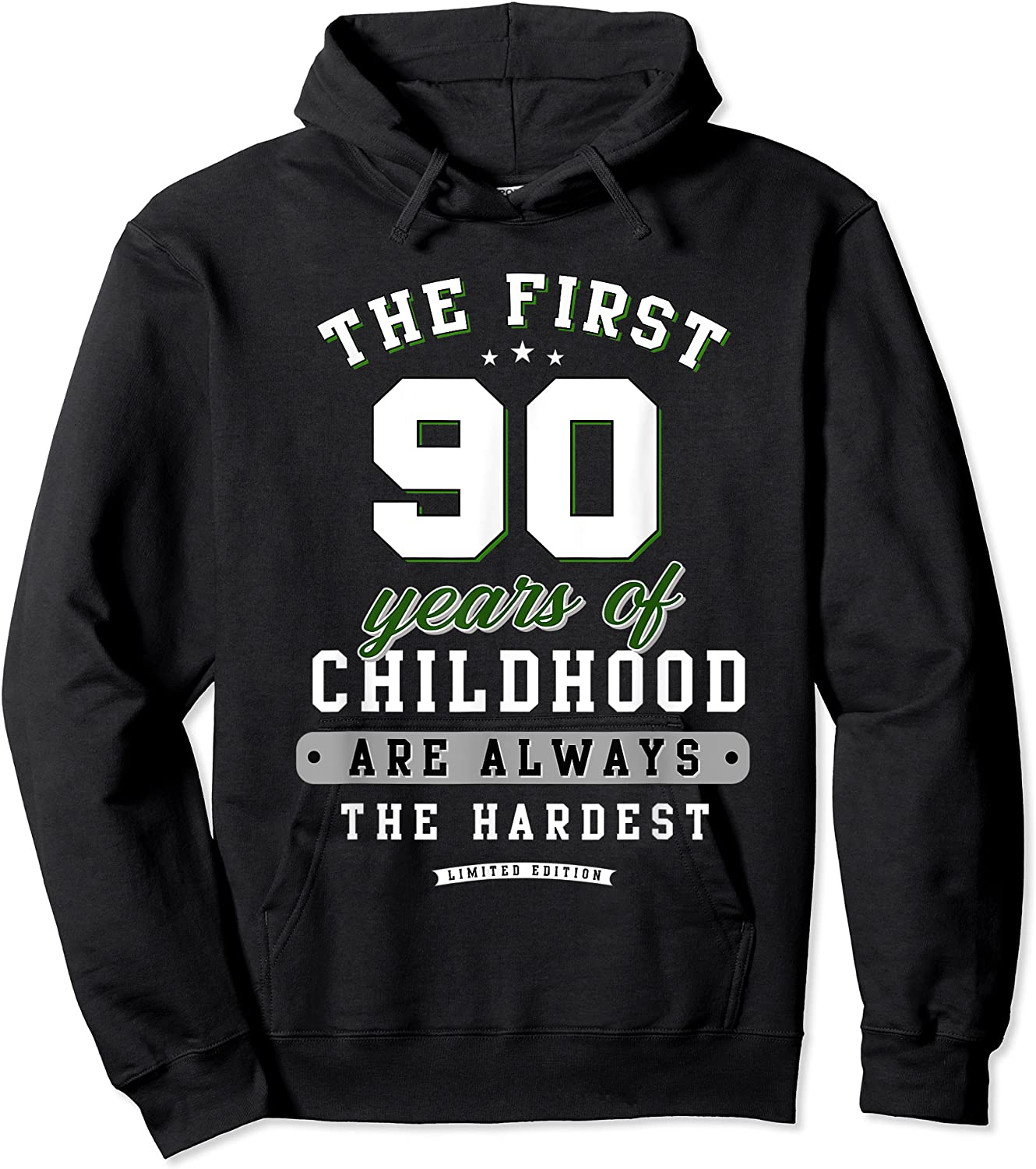90th Birthday Funny Gift Life Begins At Age 90 Years Old T-shirt Unisex Pullover Hoodie
