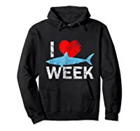 I Wait All Year For This Week T-shirt Funny Shark Tee Hoodie Black