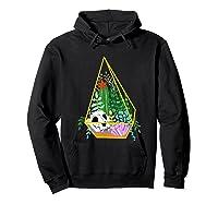 Pastel Goth Geometric Terrarium Skull, Crystals & Succulents Shirts Hoodie Black