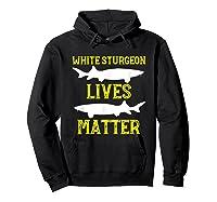 Sturgeon Fishing Shirt Fish T-shirt Gift Hoodie Black