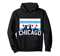 Chicago Flag Skyline Shirt Chi Town Pride City Flag Gift T Shirt Hoodie Black