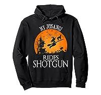 Jonangi Rides Shotgun Dog Lover Halloween Party Gift T-shirt Hoodie Black