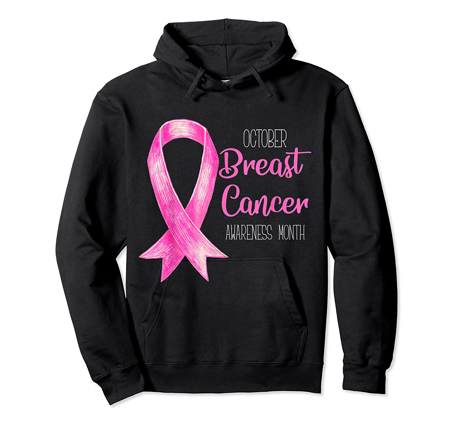 October Breast Cancer Awareness Month Shirt Show Support Unisex Pullover Hoodie