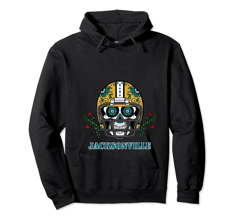Jacksonville Football Helmet Sugar Skull Day Of The Dead T Shirt Unisex Pullover Hoodie