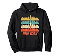 Retro New York City Skyline Pop Art Shirt Hoodie Black