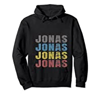 Jonas First Given Name Pride Funny T Shirt Hoodie Black