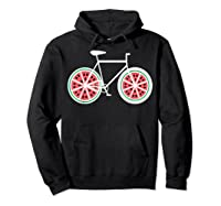 Fixie Single Speed Watermelon Bicycle T Shirt Gift Hoodie Black