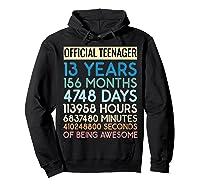 Nager Vintage 13 Years Birthday N Gifts Shirts Hoodie Black
