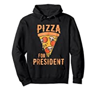 Impeach Trump Pizza For President Pizza Lovers T Shirt Hoodie Black