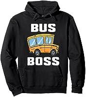 Funny Bus Boss School Bus Driver T-shirt Job Career Gift Hoodie Black