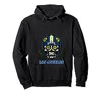 La Los Angeles Football Helmet Sugar Skull Day Of The Dead T Shirt Hoodie Black