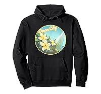 Ocean City Maryland Surfing Flower T Shirt Hoodie Black