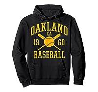 Oakland Baseball Vintage Oak Pride Retro Distressed Gift Shirts Hoodie Black
