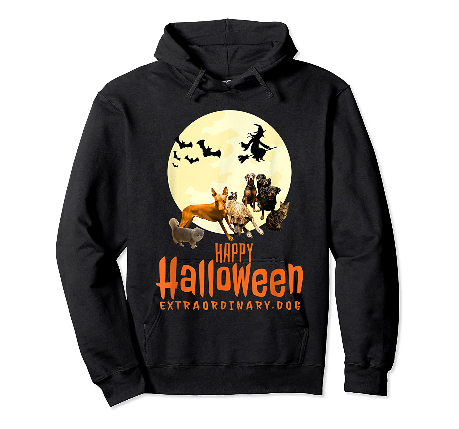 Happy Halloween With Extraordinary Dogs And Cats T Shirt Unisex Pullover Hoodie