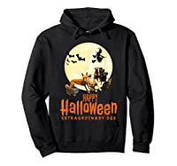 Happy Halloween With Extraordinary Dogs And Cats T Shirt Hoodie Black