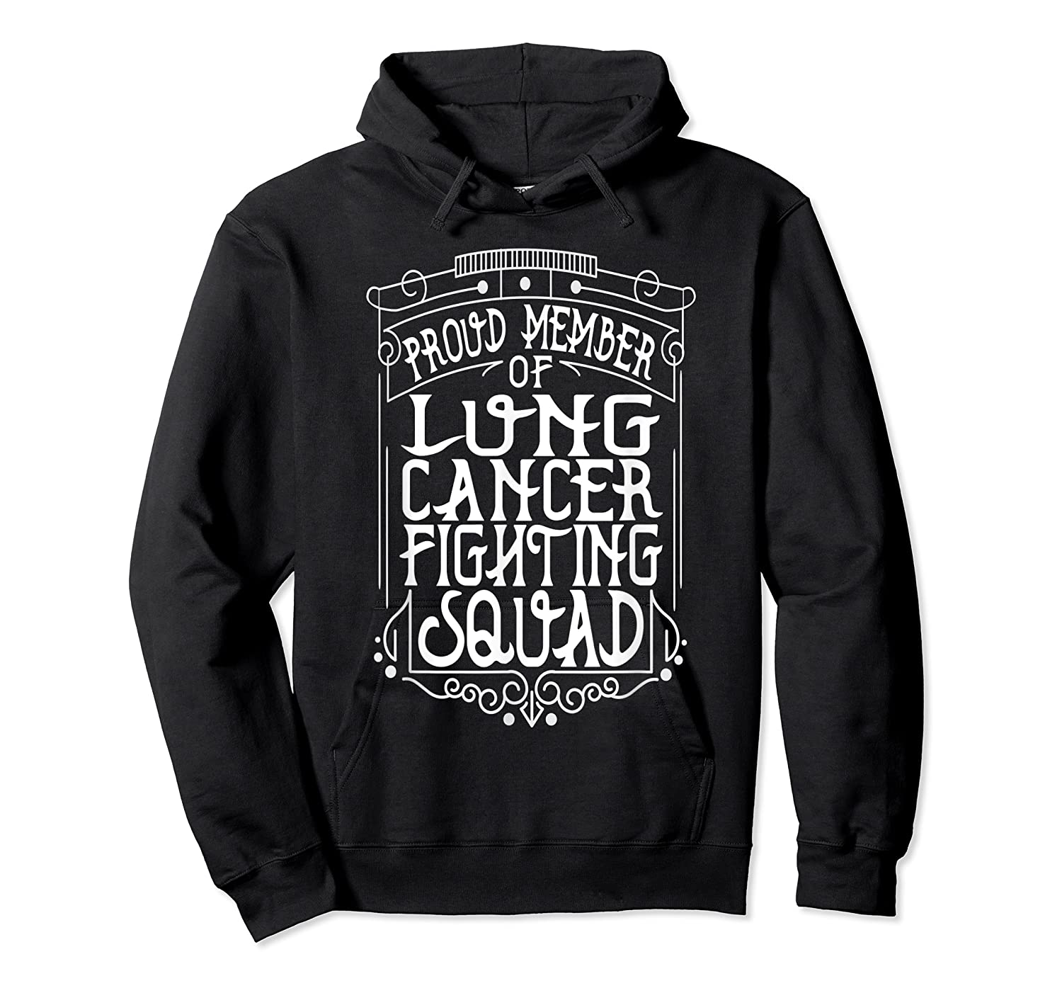 Fighting Squad Lung Cancer Awareness T-shirt Unisex Pullover Hoodie