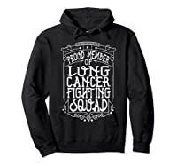 Fighting Squad Lung Cancer Awareness T-shirt Hoodie Black