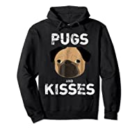 Pugs And Kisses Dog Animal Pet Funny Valentine S Day T Shirt Hoodie Black