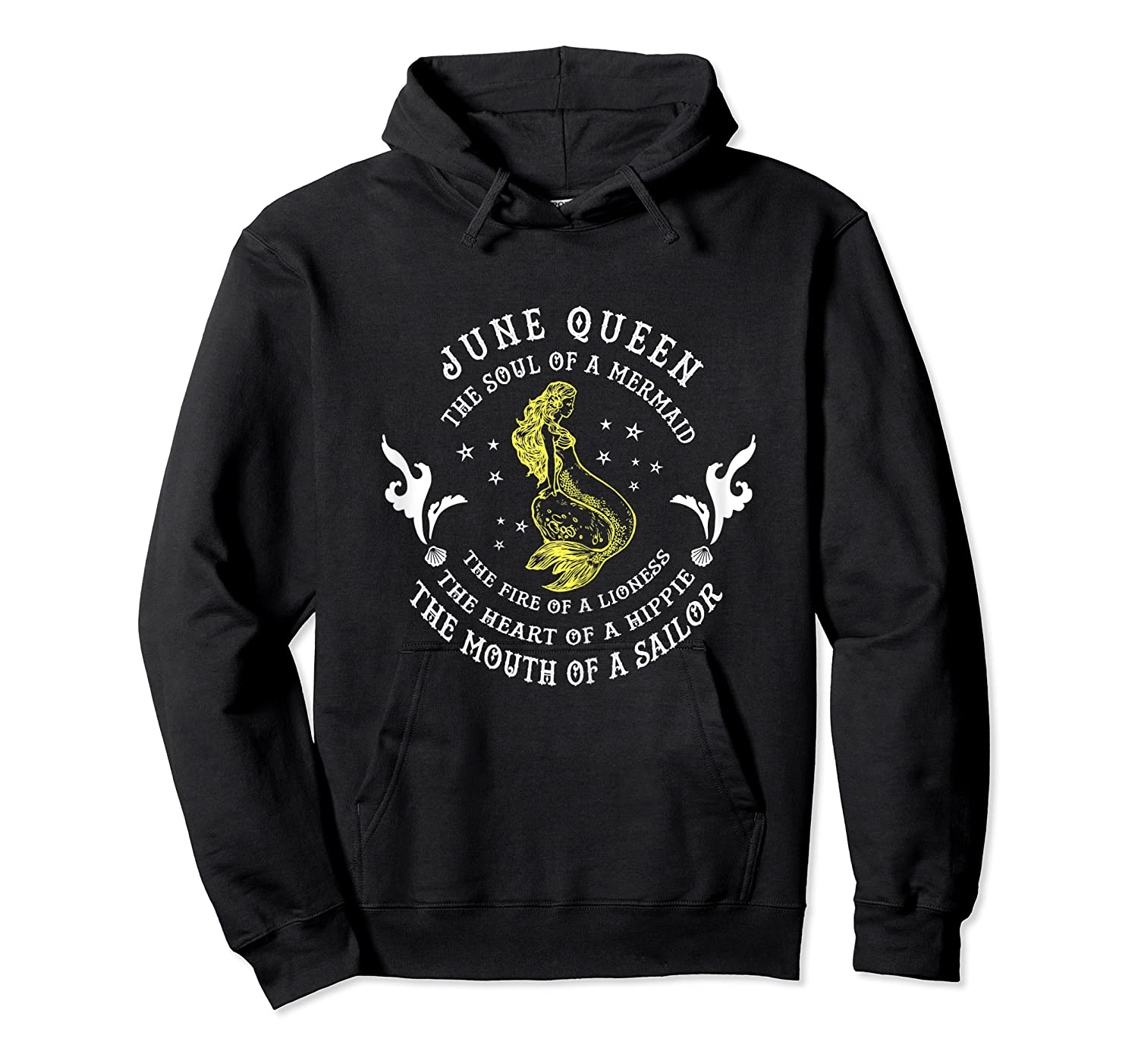 June Queen The Soul Of A Mermaid Funny Gift Mother S Day Shirts Unisex Pullover Hoodie
