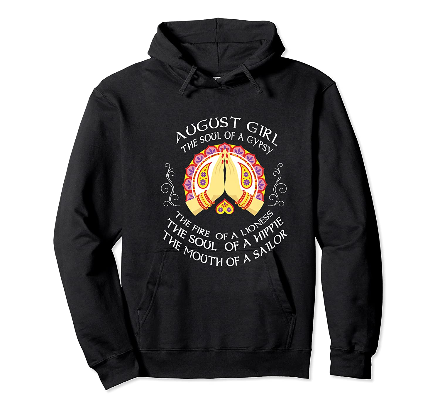 August Girl The Soul Of A Gypsy T Shirt August Girl Birthday Premium T Shirt Unisex Pullover Hoodie