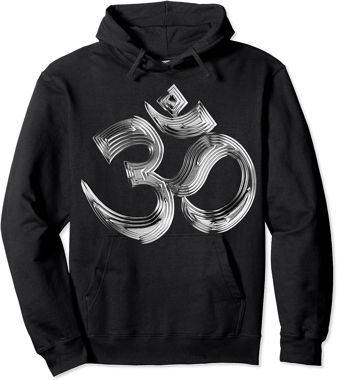 Om Yoga Chrom Zeichen   Buddha Vishnu Liebe Schwarz Weiß T-shirt Unisex Pullover Hoodie