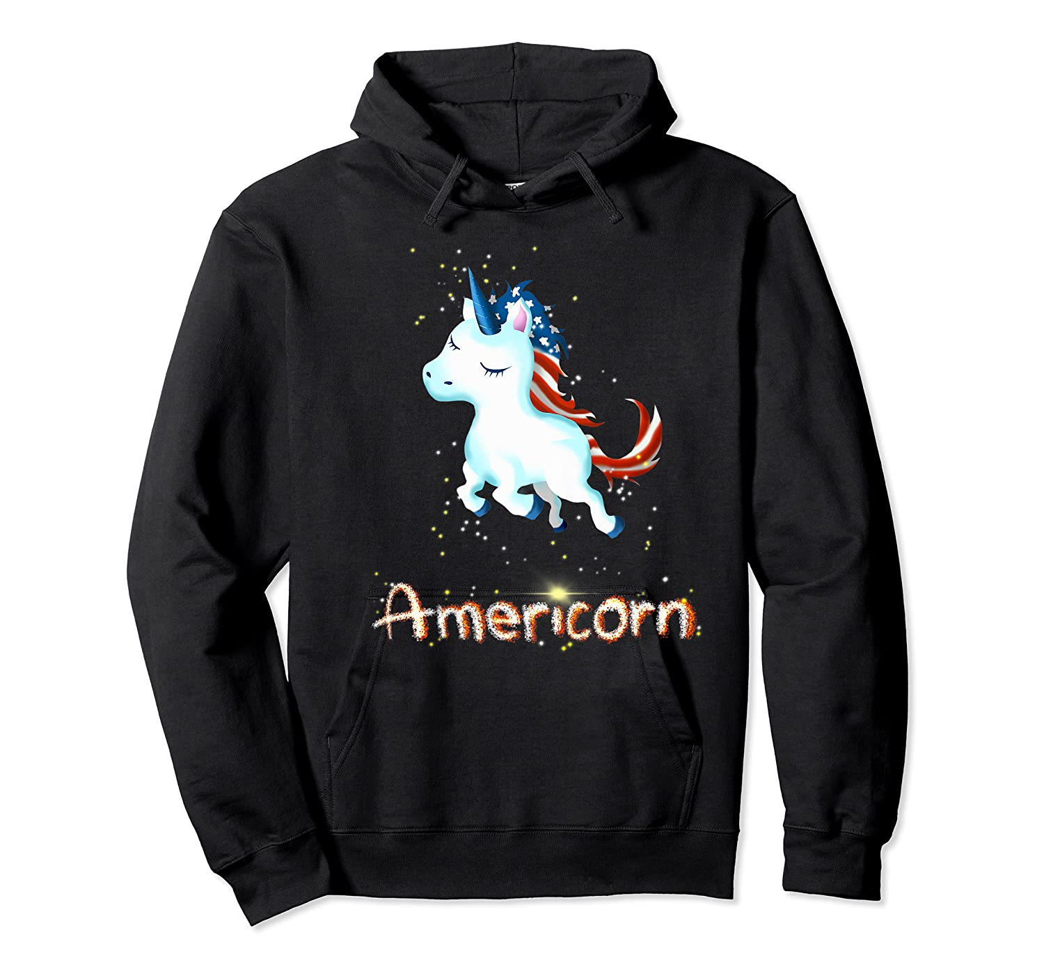 Americorn 4th Of July Patriot Usa Unicorn Lovers Funny Gift Premium T-shirt Unisex Pullover Hoodie