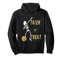Trick Or Treat Dabbing Skeleton Pumpkin Bucket Halloween Dab Shirts Hoodie Black