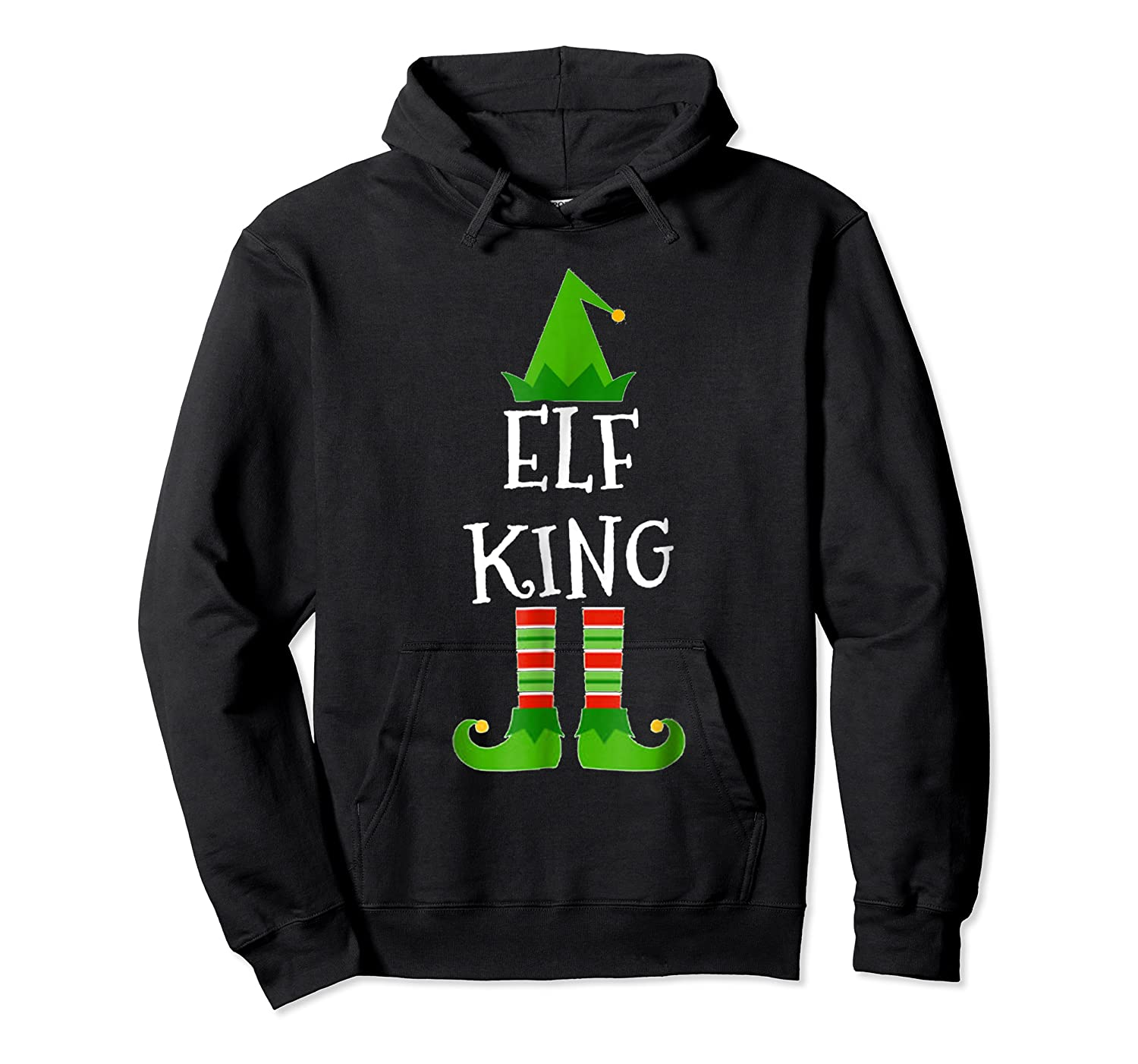 Elf King Matching Family Group Christmas Tshirt Unisex Pullover Hoodie