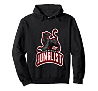 Junglist Dnb Drum And Bass Rave Panther Zip Shirts Hoodie Black