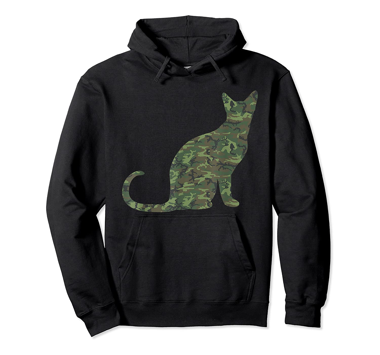 Military Balinese Camo Print Us Feline Cat Veteran Gift Shirts Unisex Pullover Hoodie