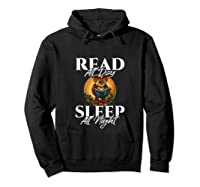 Sleep All Day Read All Night Bookish Read A Book Day Owl Tank Top Shirts Hoodie Black