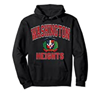 Washington Heights Dominican Flag Shield Varsity Style T Shirt Hoodie Black