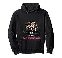 San Francisco Football Helmet Sugar Skull Day Of The Dead T Shirt Hoodie Black