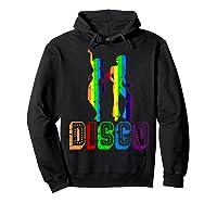 1970s Disco Dancers Vintage Rainbow 1970's Gift Shirts Hoodie Black
