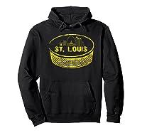 Retro St Louis Missouri Arch Cityscape Hockey Vintage Shirts Hoodie Black
