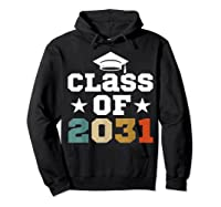 Vintage First Grade 2019 Class Of 2031 Apparel Grow With Me Shirts Hoodie Black