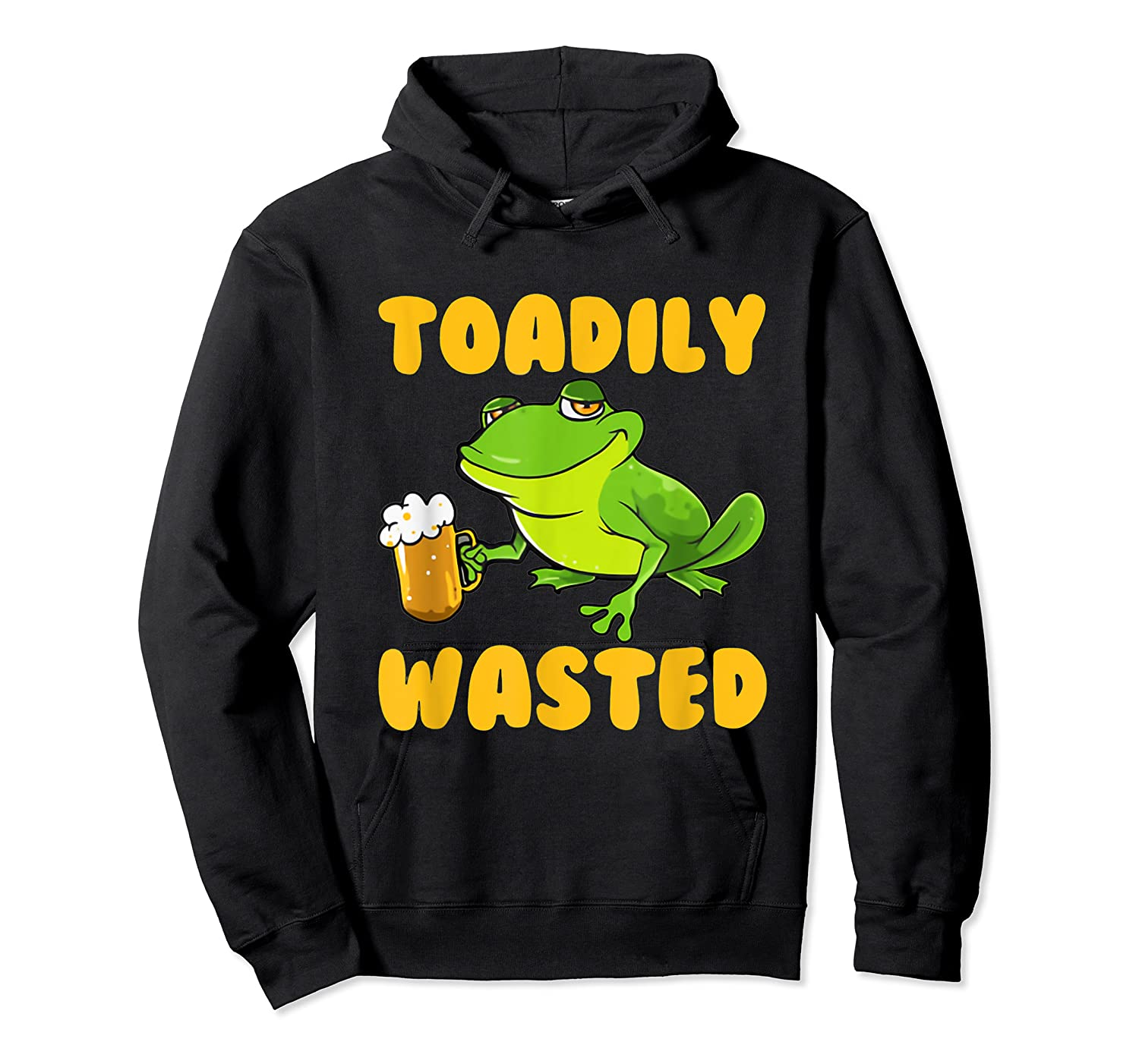 Funny Frog Drink Beer Toadily Wasted Beer Party Gift T Shirt Unisex Pullover Hoodie