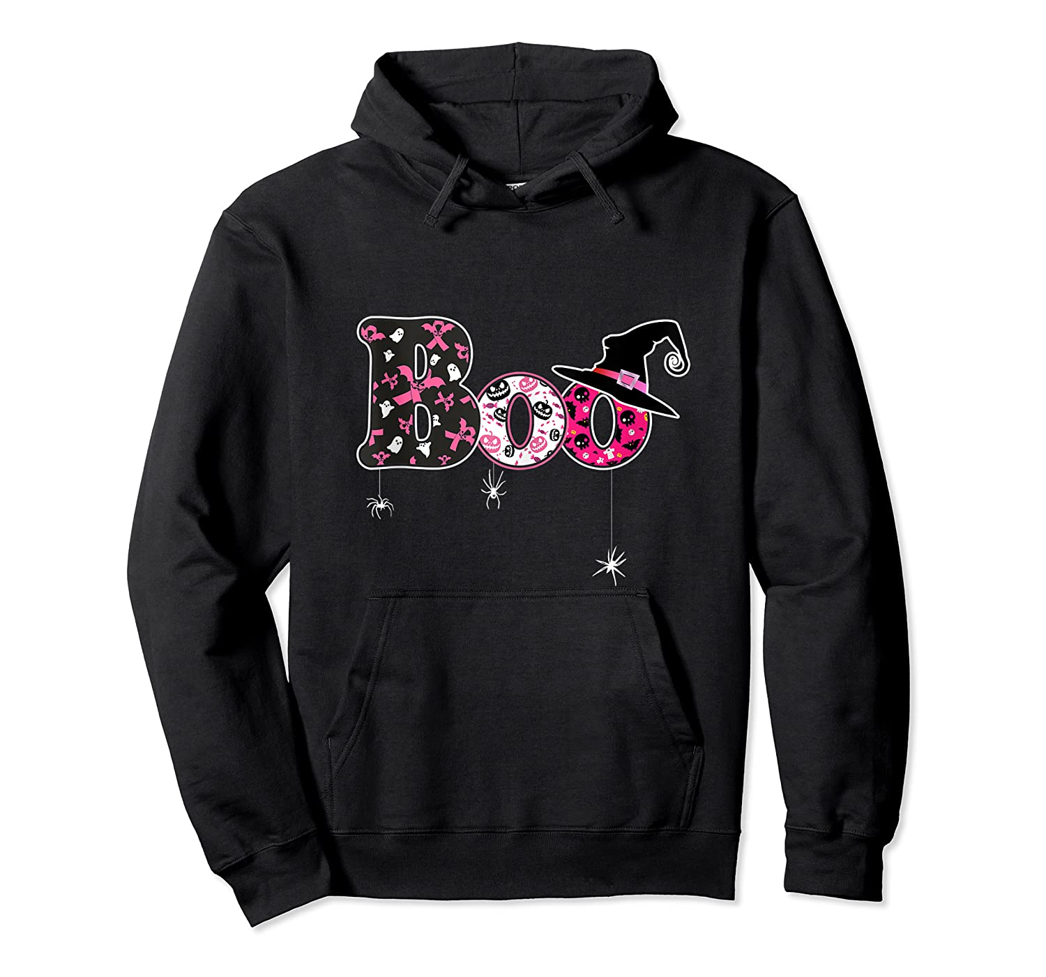 Halloween Boo Breast Cancer Awareness Month Tank Top Shirts Unisex Pullover Hoodie