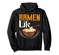 Ra Life Tasty Anime Noodle Bowl Shirts Hoodie Black