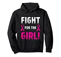 Fight For The Girl Breast Cancer Awareness Month Pink Ribbon Tank Top Shirts Hoodie Black