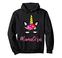 Mamacorn T Shirt Cute Funny Unicorn Gift For Mothers Day Mom Hoodie Black