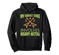 My Quiet Time Involves Heavy Metal Musician Rocker Gift Premium T-shirt Hoodie Black
