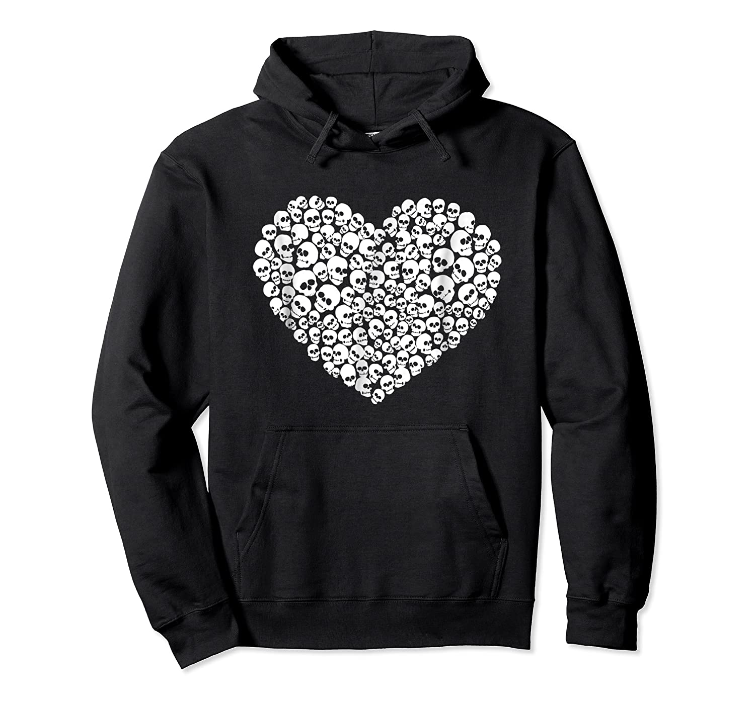 Heart Of Skulls Funny Valentine S Day T Shirt Unisex Pullover Hoodie