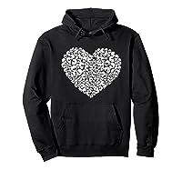 Heart Of Skulls Funny Valentine S Day T Shirt Hoodie Black